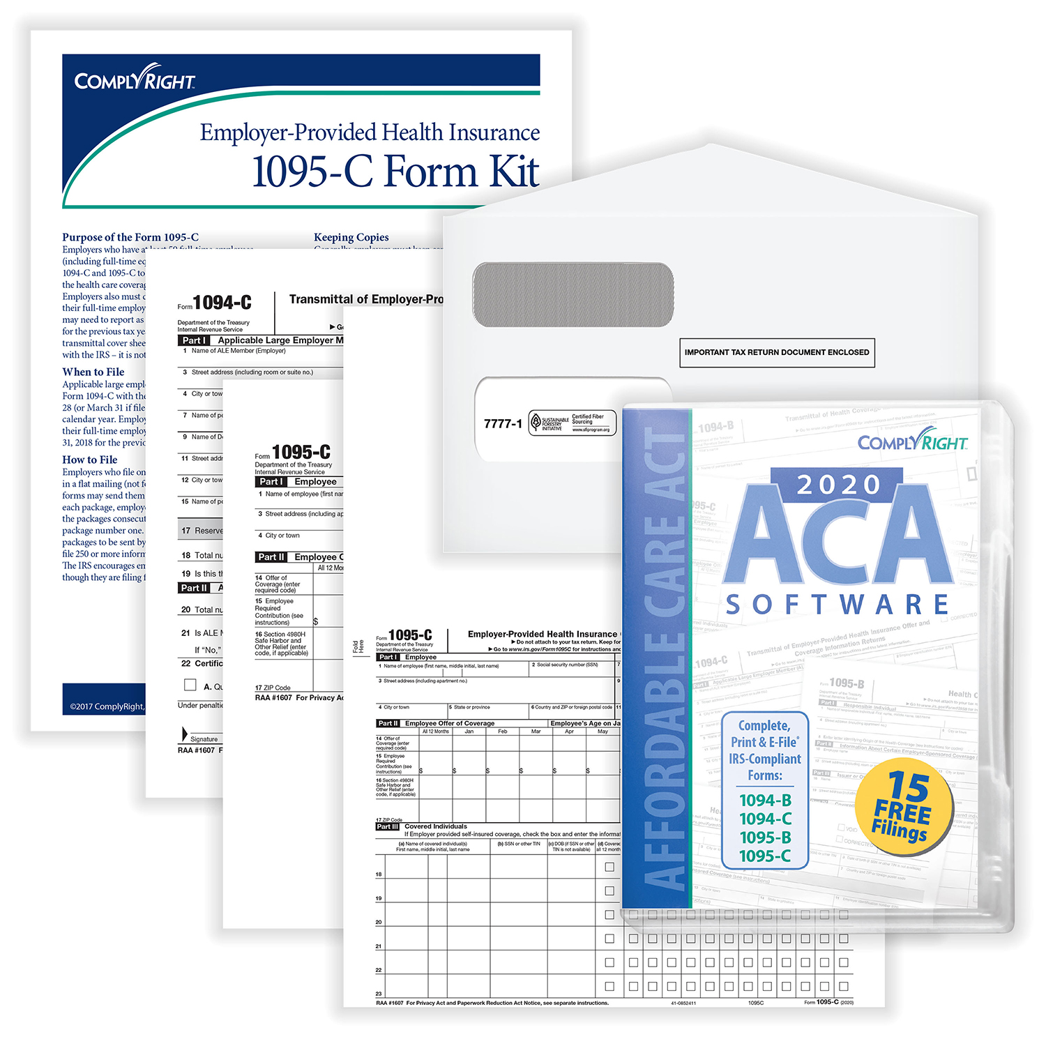 Picture of 1095-C Kit w/Envelopes & Software – Pack of 100