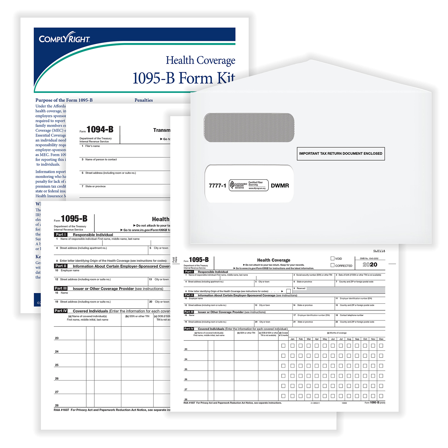 Picture of 1095-B Kit w/ Envelopes – Pack of 100