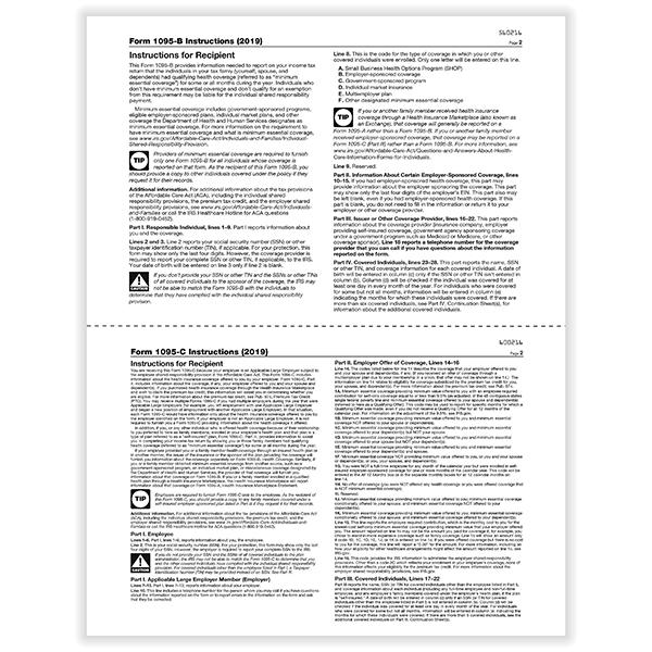 Laser 1095 Health Coverage Blank