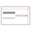 Split Double Window Envelope W-2 Form Tax