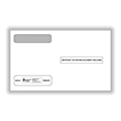Double Window Envelope W-2 4-UP for 5206, 5208-Self Sealed