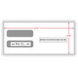 Double Window Envelope W-2  Gummed