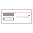 Double Window Envelope W-2/3UP