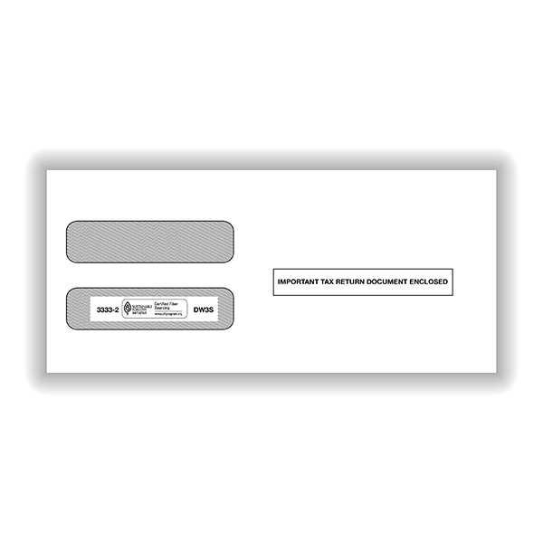 Double Window Envelope W-2/3UP LSR - SS
