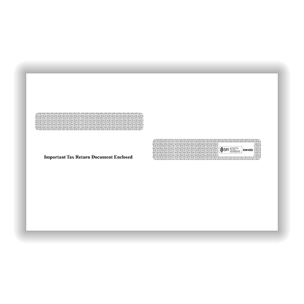 Picture of W-2 Double-Window Envelopes 4-Up Diagonal