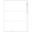 Picture of 1099-MISC 3-Up Blank  for Copies B and C with Printed Back - Horizontal