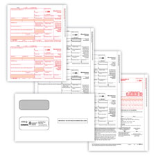 Picture of 1099-MISC 2-Up 3-Part Set w/ Self-Seal Envelopes