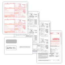Picture of 1099-MISC 2-Up 3-Part Set w/ Gummed Envelopes
