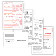 Picture of 1099-MISC 2-Up 4-Part Set w/Gummed Envelopes