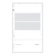 "Picture of W-2 4-Up Blank Pressure Seal 14"" EZ-Fold with Printed Backer - Horizontal"