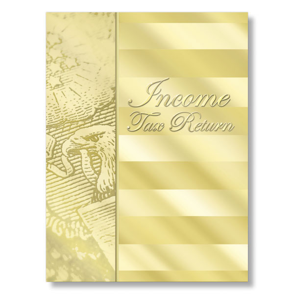 Picture of Gold Income Tax Return Folder