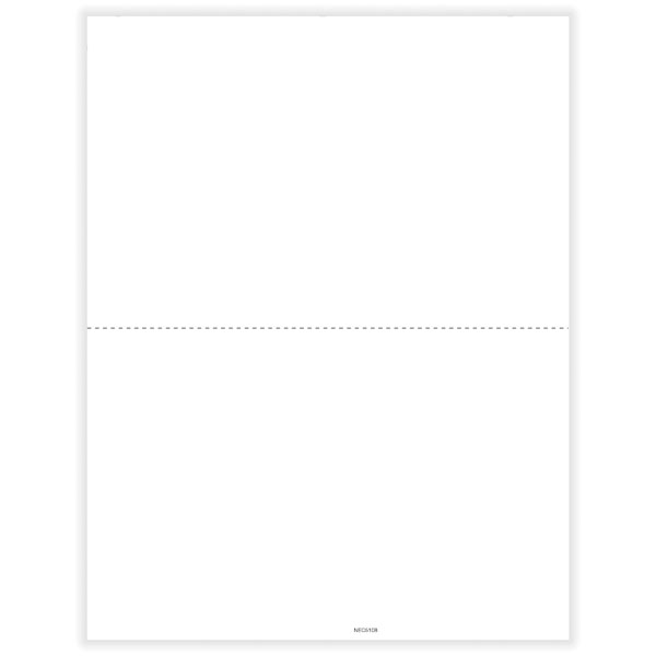 Picture of 1099-NEC 2-Up Blank w/Recipient Copy B with Backer Instructions