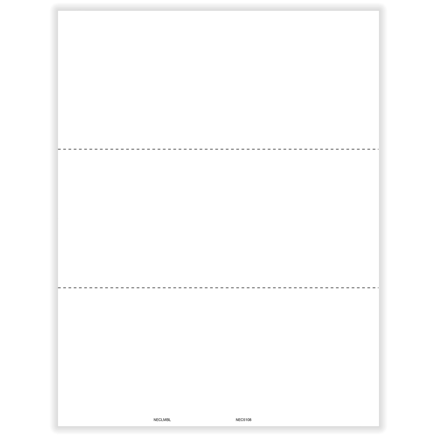 Picture of 1099-NEC 3-Up Blank w/Recipient Copy B with Backer Instructions