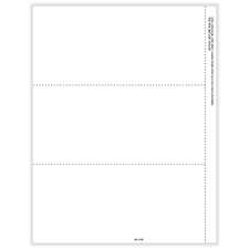 Picture of 1099-NEC 3-Up Blank w/Recipient Copy B Backer Cut Sheet w/stubs