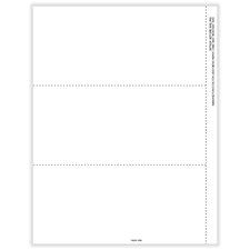 Picture of 1099-NEC 3-Up Blank Perforated