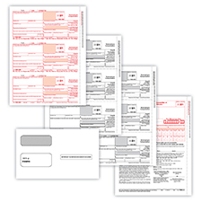 Picture of 1099-NEC 3-Up 3-Part Set w/ Self-Seal Envelopes