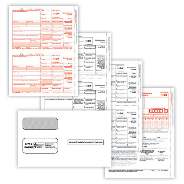 Picture of 1099-NEC 2-Up 4-Part Form with Envelopes