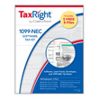 Picture of TaxRight 1099-NEC 2-Up 4-Part Kit with Envelopes and Software