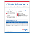 Picture of TaxRight 1099-NEC 3-Up 4-Part Kit w/Envelopes & Software