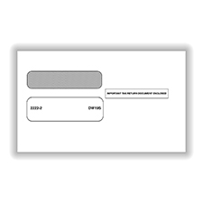 Picture of 1099 Double Window Envelope 3-UP - Self-Seal