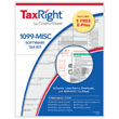 Picture of TaxRight 1099-MISC 2-Up 4-Part Kit with Envelopes & Software
