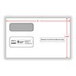 Double Window Envelope 1099 Gummed