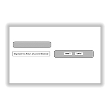 Split Double Window Envelope W2 Gummed
