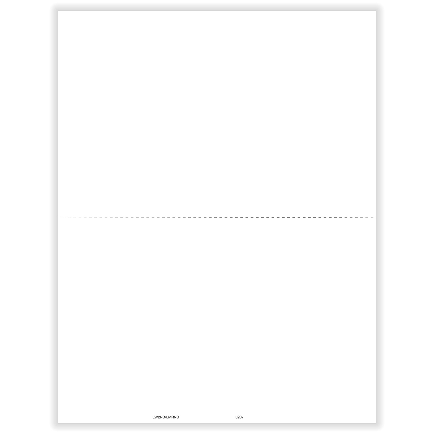 Picture of Blank W-2 Perforated
