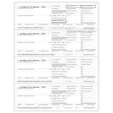 Picture of W-2 4-Up Perforated  Employee Copies B, C, 2 & 2 Combined - Horizontal