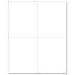 Picture of Blank W-2 4-Up Vertical and Horizontal Perforated