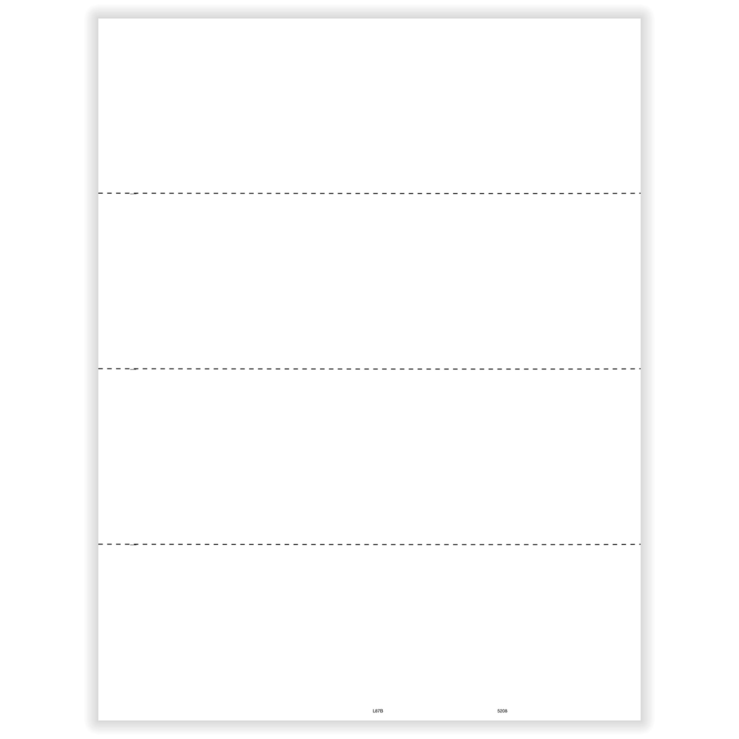 Picture of W-2 4-Up Blank - Horizontal