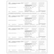 Picture of W-2 4-Up Employer Copies 1/D - Horizontal